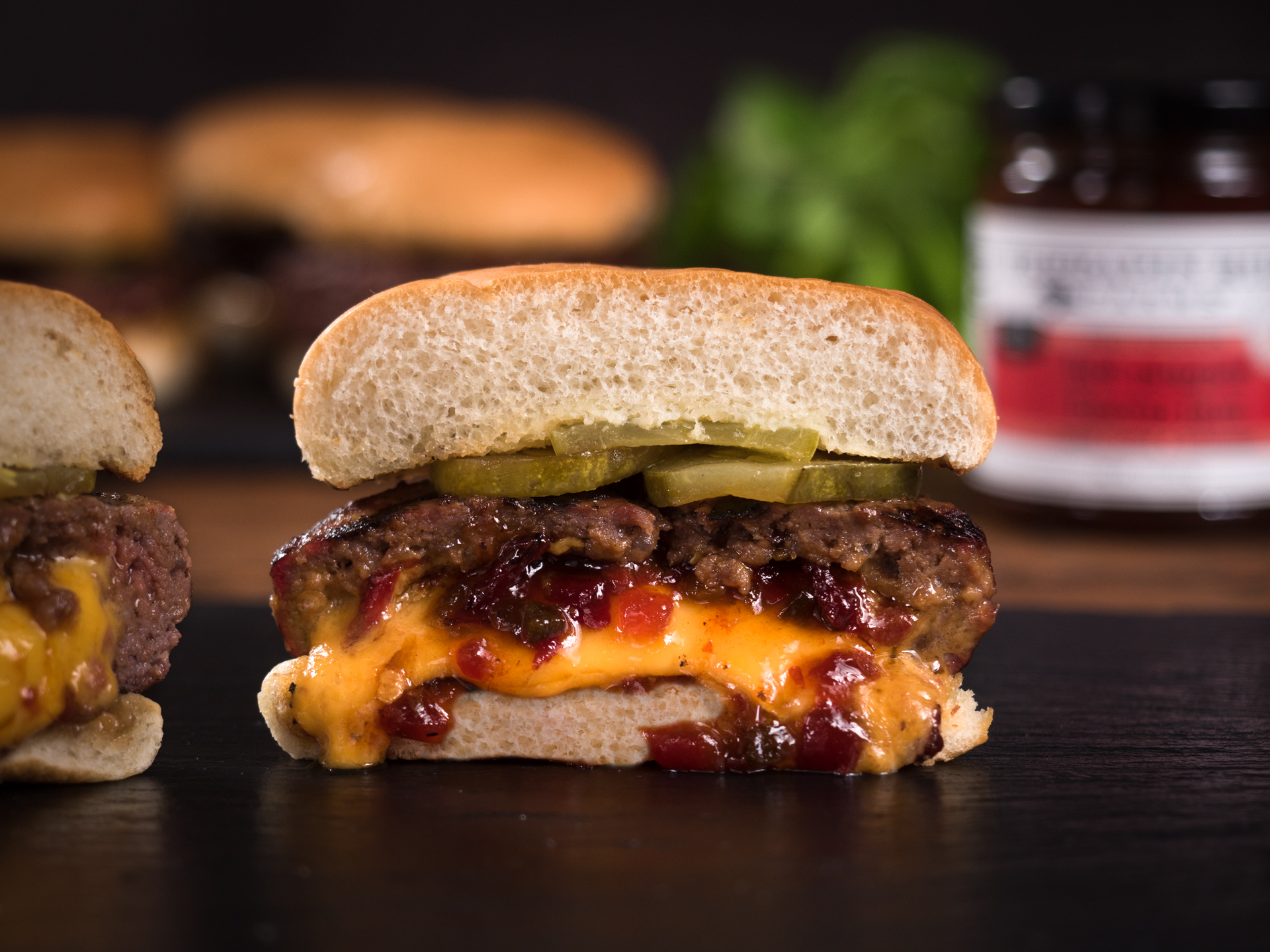 Bacon Jam Juicy Lucy Burger