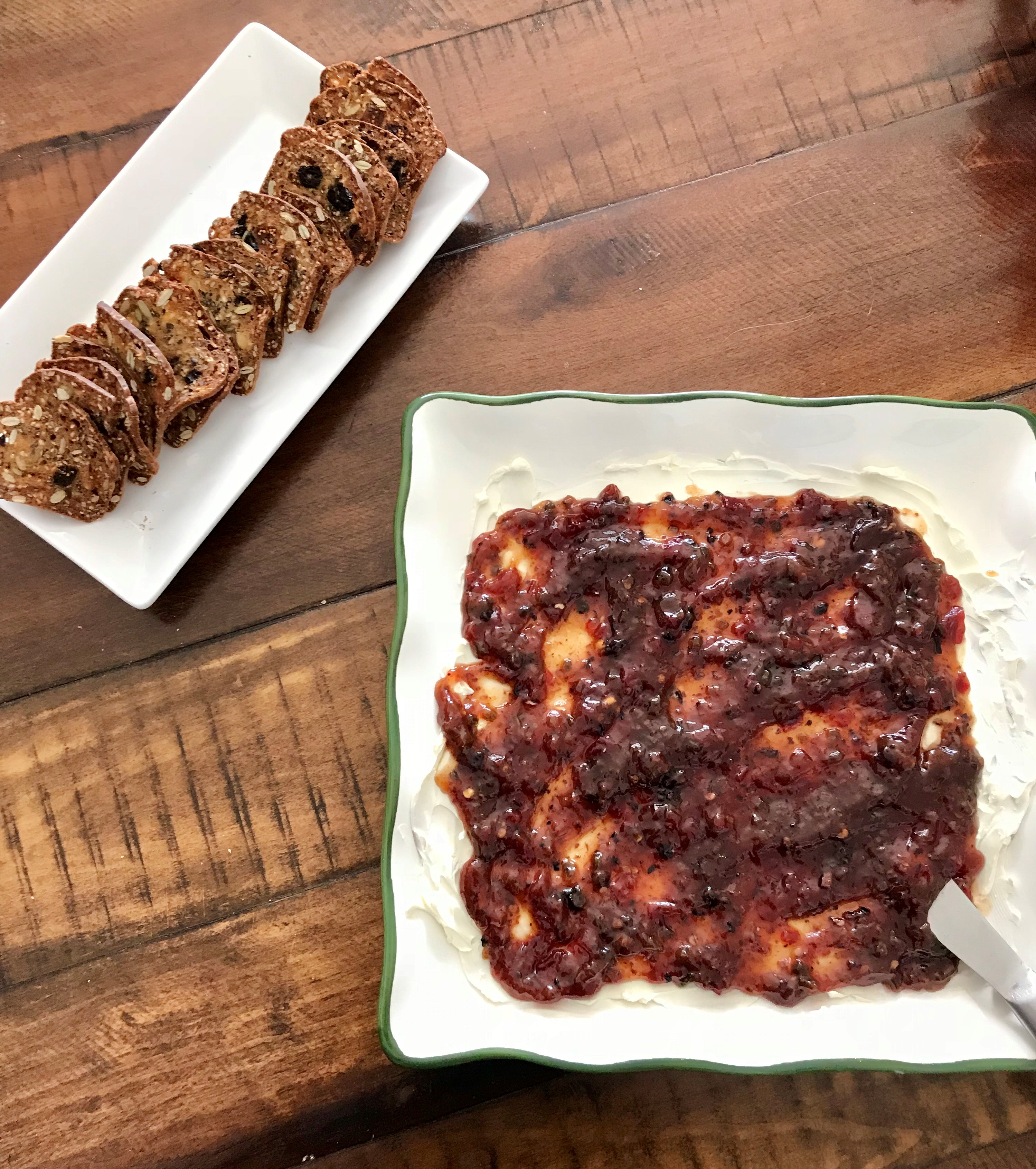 Cream Cheese Berry Bacon Jam Easy 2 Step Appetizer