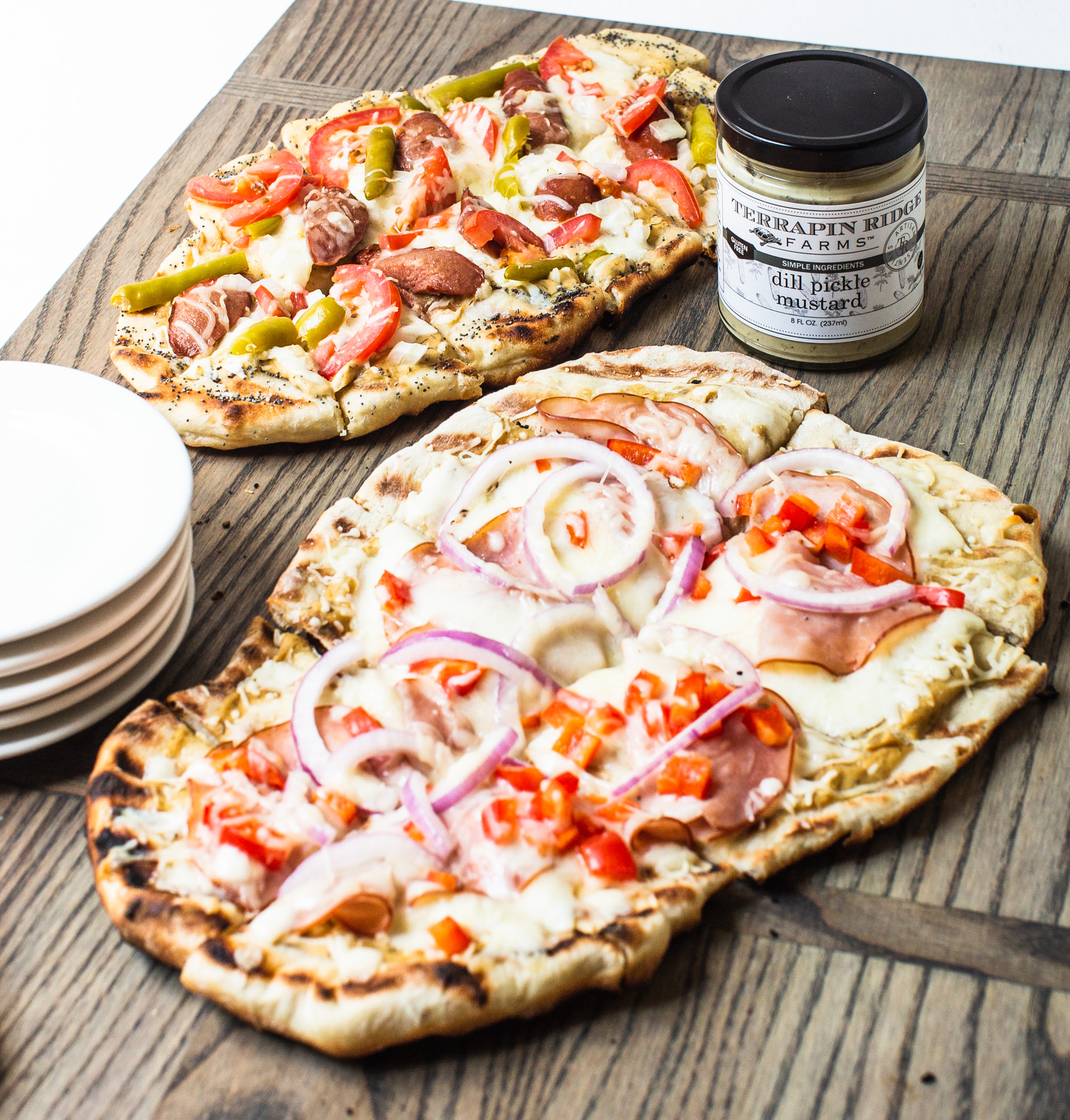 Chicago Dog Grilled Pizza
