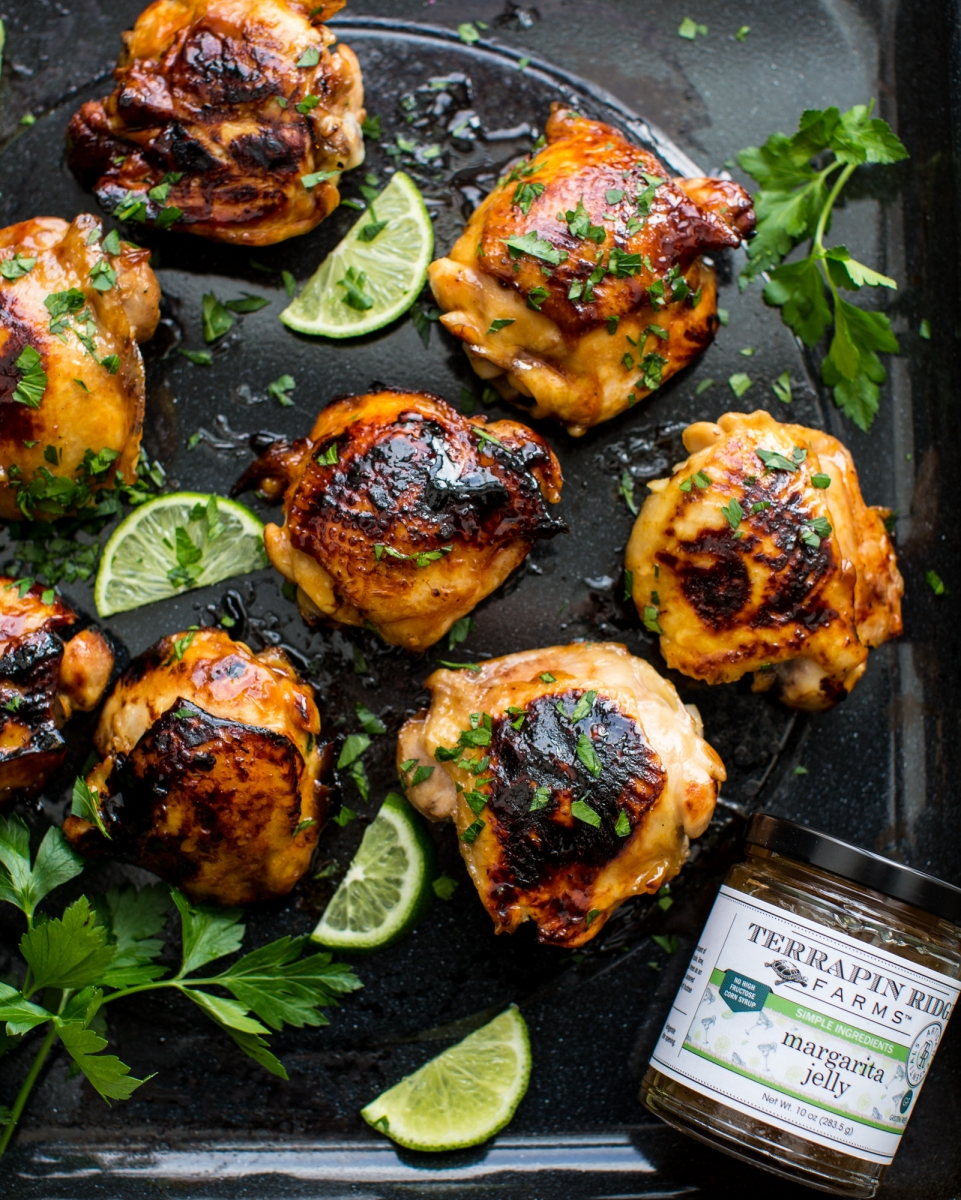 grilled chicken, goat cheese, crispy chicken recipes, margarita jam, margarita recipe