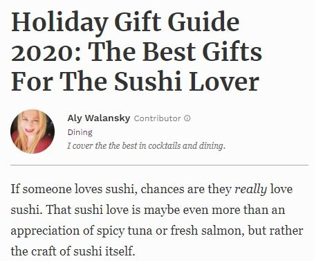 Holiday Gift Guide for Sushi Lovers