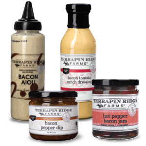 Bacon, Bacon Jam, Bacon Tomato Ranch, Bacon Mayo, Pepper Jelly, Sauce, Food trends, Gourmet food, Food Industry, How to grow your company, how to keep up with trends