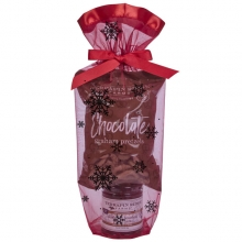 Blueberry Bourbon Pecan Jam with Chocolate Pretzels in a gift bag